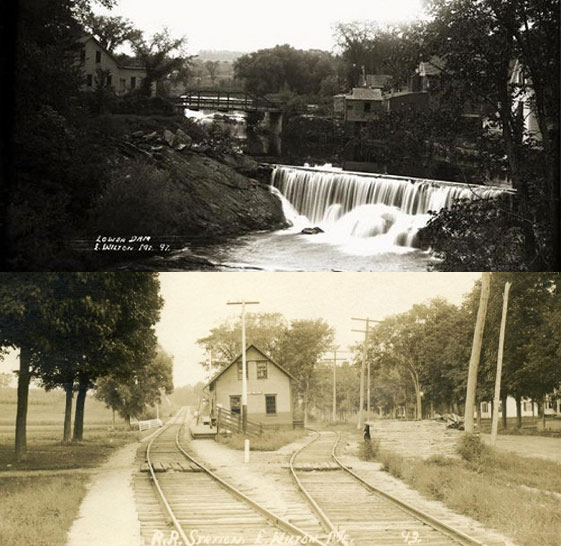 Wilton Carpenter Ant Extermination page photo of wilton falls and railroad